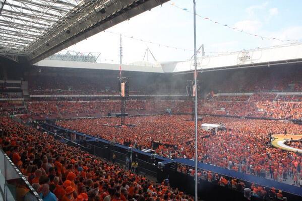 """Spagna-Olanda allo stadio """"De Kuip"""" del Feyenoord"""