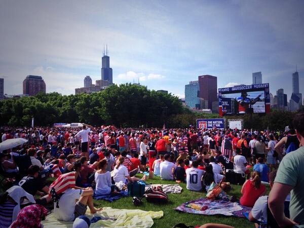 A Chicago la folla attende Ghana-Stati Uniti