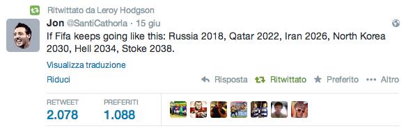 Dopo Qatar 2022, ci saranno Inferno 2034 e Stoke 2038?