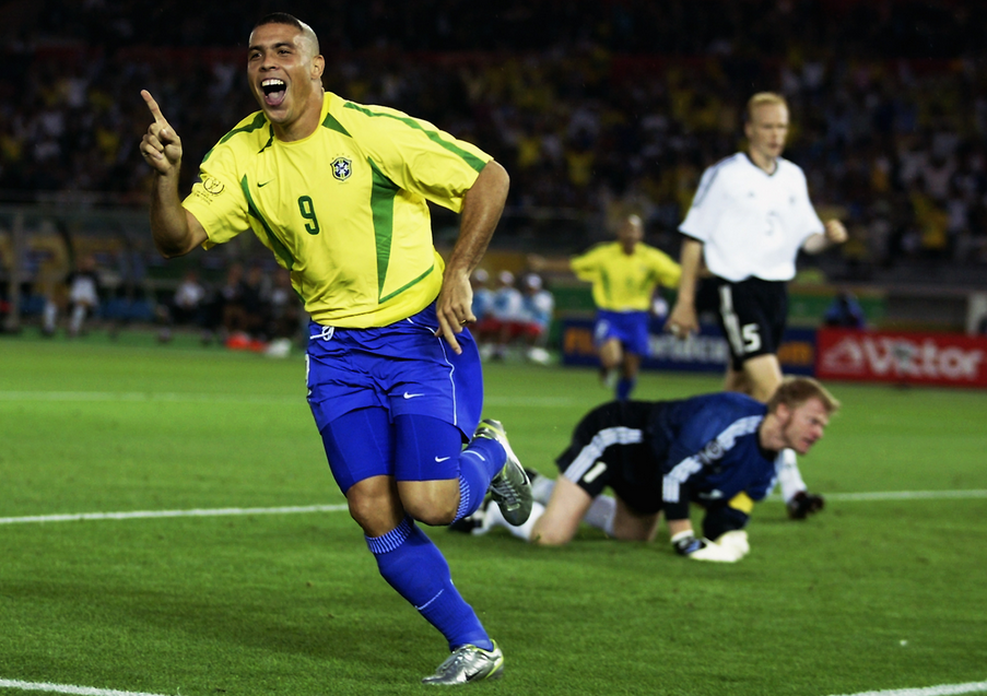Ronaldo, tornato assoluto protagonista nei Mondiali del 2002