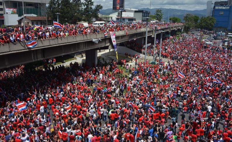 Entusiasmo popolare in Costa Rica