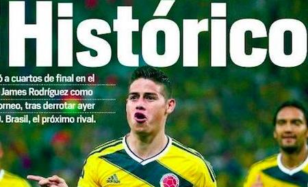 #Contromondiale 14: #ottavi, #Brasile, #Cile, #JulioCesar, #Ames, #Colombia, #Ochoa, #Hupolland