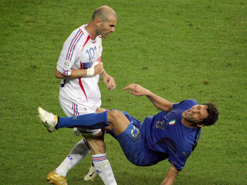 La testata di Zidane a Materazzi
