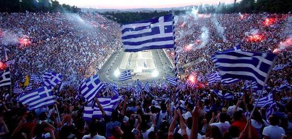E quella oceanica allo stadio Panathinaikon di Atene