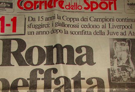 Roma-Liverpool: una notte di Coppe e di Campioni che per i tifosi giallorossi non è esistita davvero